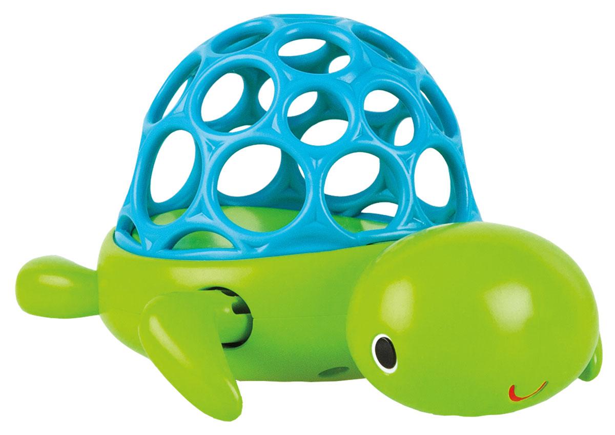 Oball Игрушка для ванной Черепашка10065Игрушка для ванной Oball Черепашка обязательно порадует малыша и сделает принятие ванной и водные процедуры забавным развлечением. В панцире имеются специальные отверстия, для того чтобы ребенку было удобно ловить игрушку. Черепашку можно завести с помощью передних лапок, и она поплывет самостоятельно. Игрушка помогает развивать мелкую моторику рук, обогащает тактильные ощущения.