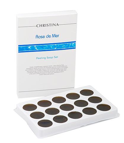 Christina Rose de Mer Soap Peel - Мыльный пилинг«Роз де Мер» Набор 15*30 грSPНабор Мыльный пилинг «Роз де Мер» Christina Rose de Mer Soap Pee. Это простой, но эффективный способ решения таких эстетических проблем, как акне, расширенные поры, пигментация, фолликулярный гиперкератоз («гусиная кожа»), огрубелости и шелушение. Может использоваться для кожи лица, декольте, спины, коленей, локтей и др. Мыло включает в себя порошок Роз де Мер — натуральный растительный пилинг с морскими кораллами, соль Мертвого Моря и травы из Бразилии. Это — замечательное средство, которое дает быстрые и прекрасные результаты и может применяться в домашних условиях.