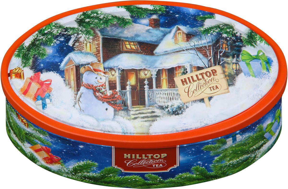 Hilltop Шкатулка Новогоднее настроение Подарок Цейлона черный листовой чай, 100 г4607099307339Чай «Подарок Цейлона» - Крупнолистовой цейлонский черный чай с глубоким, насыщенным вкусом и ароматом