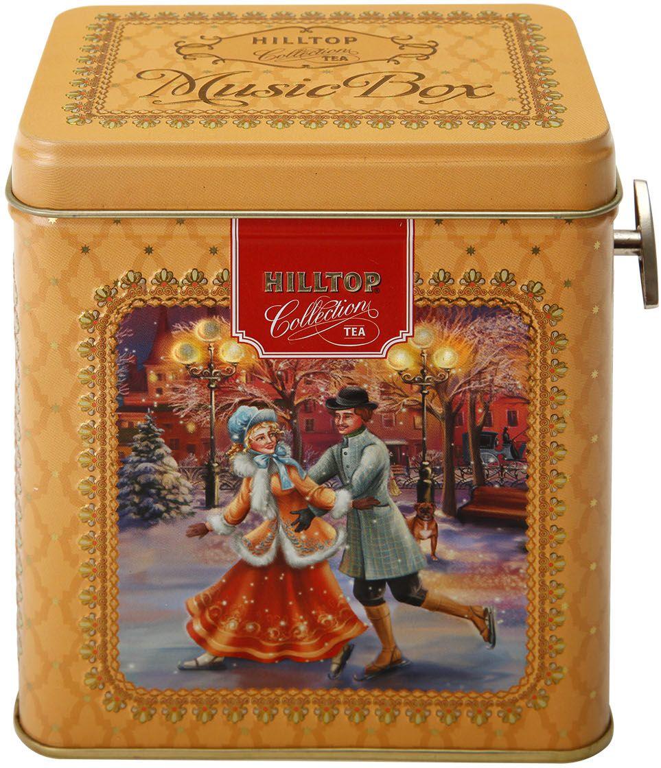 Hilltop Шкатулка Рождественские катания Черный лист черный листовой чай, 100 г4607099307469Чай Черный лист - Особо крупнолистовой цейлонский черный чай с насыщенным ароматом и терпким послевкусием