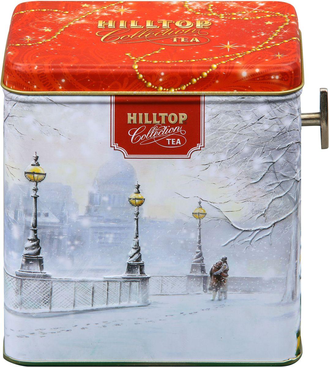 Hilltop Шкатулка Заснеженный город Эрл Грей ароматизированный листовой чай, 100 г4607099307513Hilltop Эрл Грей - крупнолистовой чай с цедрой лимона и ароматом бергамота - в лучших традициях Англии.