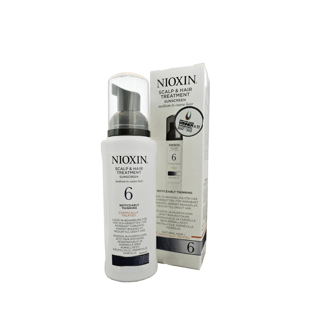 Nioxin Scalp Treatment System 6 - Питательная маска (Система 6) 200 мл81543667/7701Питательная маска от Ниоксин из системы 6 предназначена для жестких заметно редеющих волос, как натуральных, так и химически обработанных. Средство мягко питает и увлажняет волосы, а также нейтрализует дегидротестостерон. После применения питательной маски от Nioxin волосы становятся эластичными и гладкими, сильными и блестящими, красивыми и здоровыми.