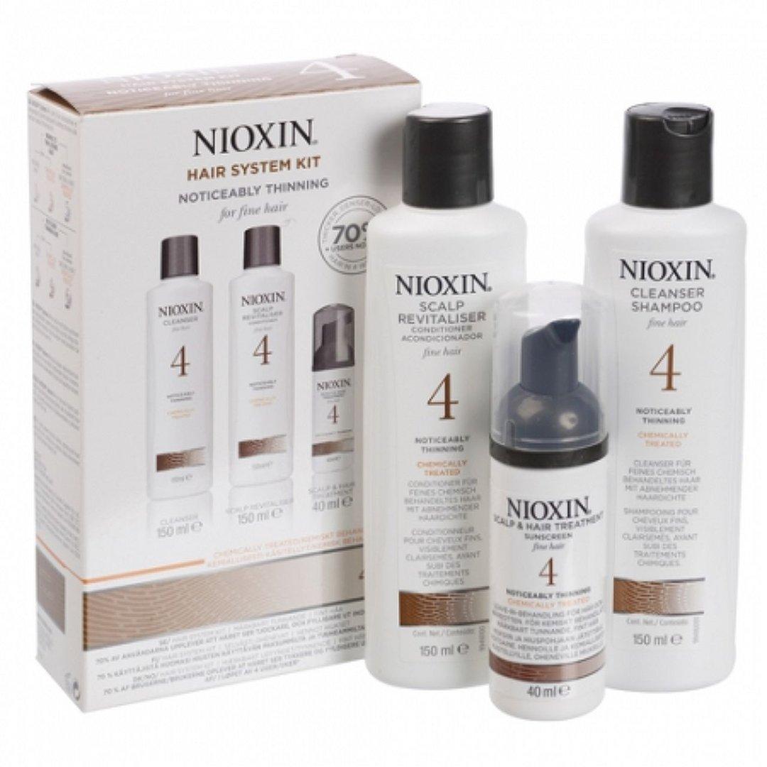 Nioxin Hair XXL Kit System 4 - Набор (Система 4) 300 мл+300 мл+100 мл81543678/7930В набор Nioxin Starter Kit System 4 входят: Шампунь Очищение 300 мл - придающий объём очиститель Кондиционер Увлажнение 300 мл - придающий объём кондиционер Маска Питание 100 мл - придающая объём и питающая волосы маска