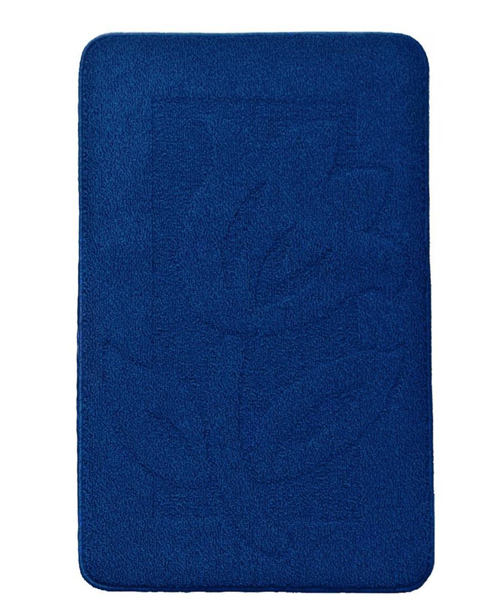 Коврик для ванной Kamalak Tekstil, цвет: синий, 60 х 100 смУКВ-1009Ковер Kamalak Tekstil изготовлен из прочного синтетического материала heat-set, улучшенного варианта полипропилена (эта нить получается в результате его дополнительной обработки). Полипропилен износостоек, нетоксичен, не впитывает влагу, не провоцирует аллергию. Структура волокна в полипропиленовых коврах гладкая, поэтому грязь не будет въедаться и скапливаться на ворсе. Практичный и износоустойчивый ворс не истирается и не накапливает статическое электричество. Ковер обладает хорошими показателями теплостойкости и шумоизоляции. Оригинальный рисунок позволит гармонично оформить интерьер комнаты, гостиной или прихожей. За счет невысокого ворса ковер легко чистить. При надлежащем уходе синтетический ковер прослужит долго, не утратив ни яркости узора, ни блеска ворса, ни упругости. Самый простой способ избавить изделие от грязи - пропылесосить его с обеих сторон (лицевой и изнаночной). Влажная уборка с применением шампуней и моющих средств не противопоказана. ...