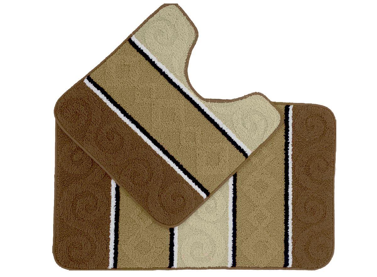 Набор ковриков для ванной комнаты Kamalak Tekstil, цвет: бежевый, 2 шт. УКВ-1033УКВ-1033Ковры-паласы выполнены из полипропилена. Ковры обладают хорошими показателями теплостойкости и шумоизоляции. Являются гиппоалергенными. За счет невысокого ворса ковры легко чистить. Вам придется по душе широкая гамма цветов и возможность гармонично оформить интерьер. Практичный и устойчивый к износу ворс - от постоянного хождения не истирается, не накапливает статическое электричество. Структура волокна в полипропиленовых моделях гладкая, поэтому грязь не может выесться, на ворсе она скапливается с трудом. Полипропилен не впитывает влагу, отталкивает водянистые пятна. Уход: Самый простой способ избавить изделие от грязи – пропылесосить его с обеих сторон (лицевой и изнаночной). Влажная уборка с применением шампуней и моющих средств не противопоказана. Если шерсти и шёлку универсальные чистящие составы не подходят, то для синтетики они придутся в самый раз. Хранить их нужно рулоном, не складывая «салфеткой». При надлежащем уходе синтетический ковёр прослужит долго, не утратив ни...