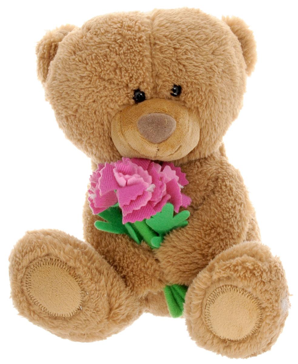 Lava Мягкая озвученная игрушка Медвежонок Сэмми с гвоздиками 16 смLA 8733QМягкая озвученная игрушка Lava Медвежонок Сэмми станет поистине незабываемым подарком для каждого ребенка. Мягкая игрушка ассоциируется с радостью и весельем. Забавная, добрая игрушка будет радовать малыша с самого рождения. Игрушка выполнена в виде очаровательного медведя, держащего в лапках букет гвоздик. Нажав медвежонку на живот, вы услышите веселую и забавную песенку. Мягкие игрушки помогают познавать окружающий мир через тактильные ощущения, знакомят с животным миром нашей планеты, формируют цветовосприятие и способствуют концентрации внимания. Мягкие игрушки торговой марки Lava станут достойным выбором для вашего ребенка! Работает игрушка от незаменяемых батареек.