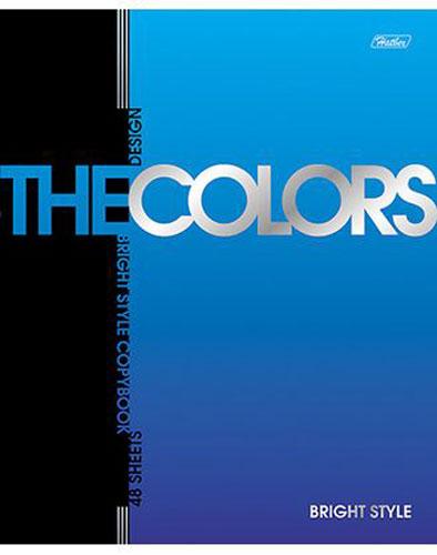 Hatber Тетрадь The Colors 48 листов в клетку цвет синий
