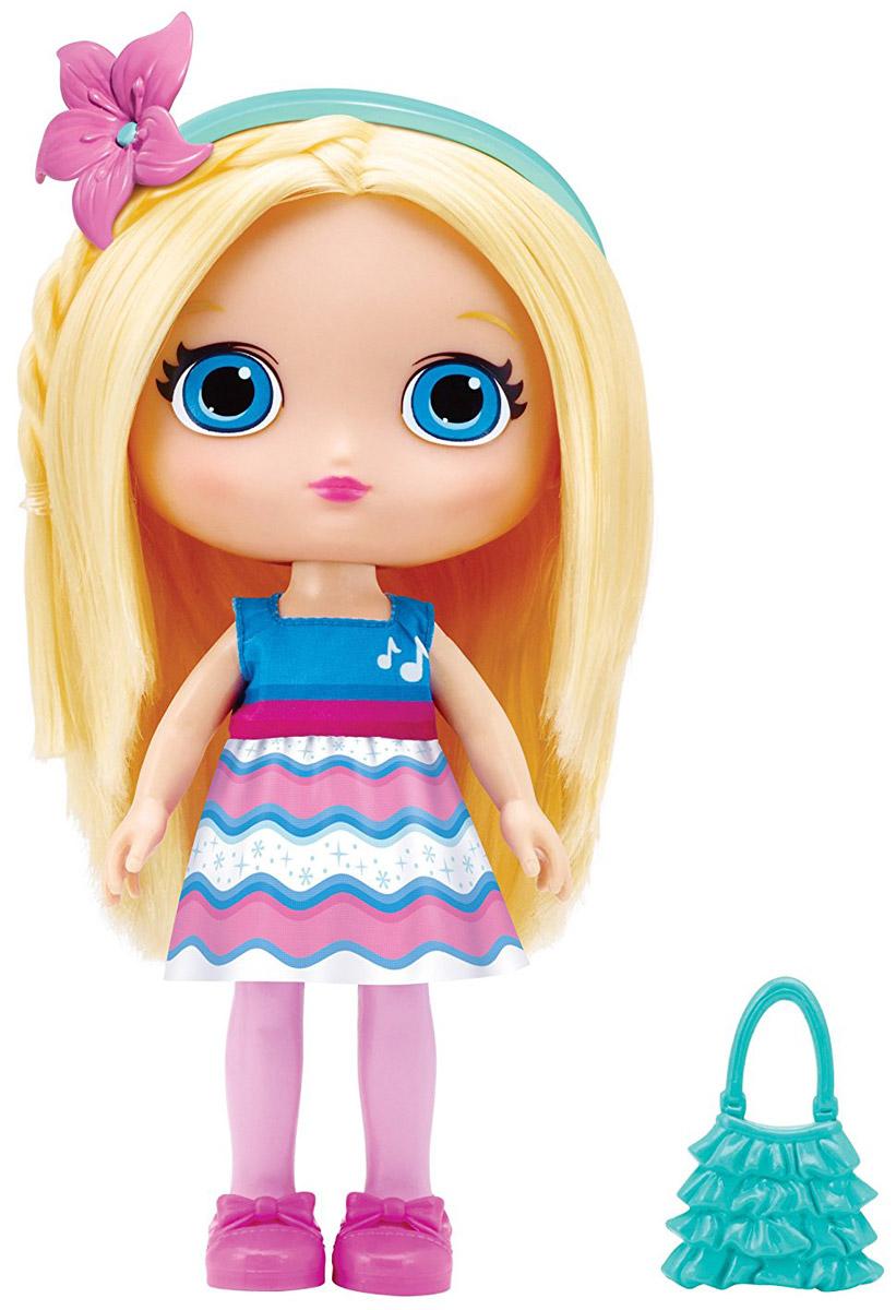 Little Charmers Кукла Posie71701_20072877Очаровательная кукла Posie станет лучшей подружкой вашей малышки. Куколка одета в короткое платье для танцев с рисунком волны. На ногах куклы симпатичные розовые туфельки. У куклы длинные светлые волосы, которые можно расчесывать и заплетать из них различные прически. Модный образ дополняют бирюзовый ободок с цветочком и голубая сумочка. Выразительный внешний вид и аккуратное исполнение куклы делает ее идеальным подарком для любой девочки. Порадуйте свою малышку таким великолепным подарком! Поузи (Posie) - героиня мультсериала Маленькие Волшебницы. Она очень вежливая, миролюбивая и большая оптимистка. Поузи всегда доверяет своим предчувствиям, которые ее никогда не подводят. Она всегда старается выглядеть красиво и аккуратно. Поузи делает все возможное, чтобы всегда приободрить и похвалить других. Она очень общительна!