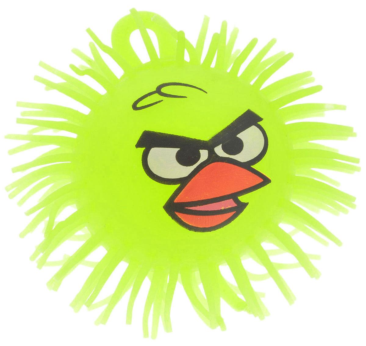1TOY Игрушка-антистресс Ё-Ёжик Злая птичка цвет желтый диаметр 12 смТ66_желтыйЁ-Ёжик - это яркая игрушка-антистресс - мягкая, приятная на ощупь и напоминающая свернувшегося ежика. Взяв игрушку в руки, расстаться с ней просто невозможно! Ее не только приятно держать в руках, если перекинуть игрушку из руки в руку, она начнет мигать цветными огоньками. Игрушка ярко-желтого цвета с лицом птички из мультфильма Angry Birds и длинными мягкими колючками. Игрушка работает от незаменяемого химического источника света.