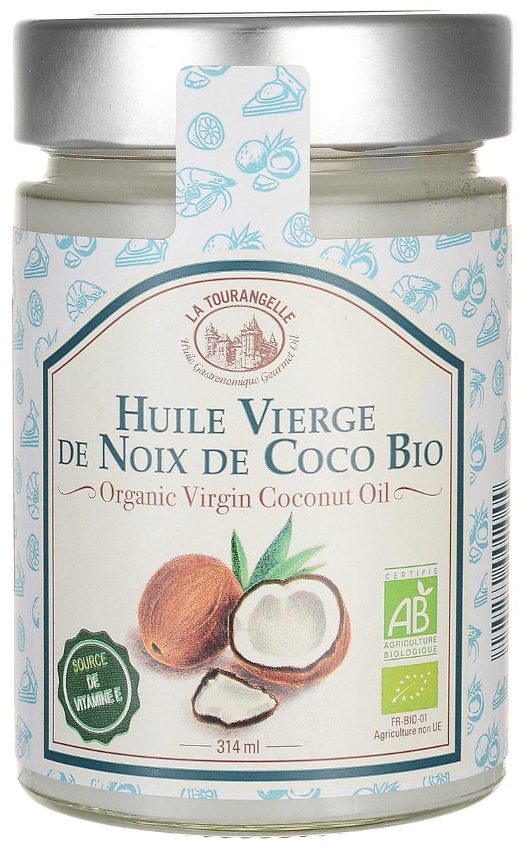 Масло La Tourangelle Organic Virgin Coconut Oil изготовлено из плодов кокоса органического происхождения в течение четырех дней после сбора урожая. Используется для быстрого обжаривания продуктов при постоянном помешивании, приготовления блюд с приправой карри, выпечки, также масло подойдет в качестве замены сливочному маслу. Кокосовое масло богато лауриновой кислотой, не менее 50%, которая обеспечивает антибактериальное действие. Гиалуроновая кислота создаёт влажную среду на поверхности кожи. Триглецериды насыщенных жирных кислот позволяют маслу быстро впитываться в кожу. Также в состав масла входят пальмитиновая, каприловая, олеиновая, каприновая, стеариновая, линоленовая, арахидоновая, капровая кислоты. Благодаря этому кокосовое масло является одним из лучших увлажняющих, размягчающих, питающих и защитных средств по уходу за кожей и волосами.