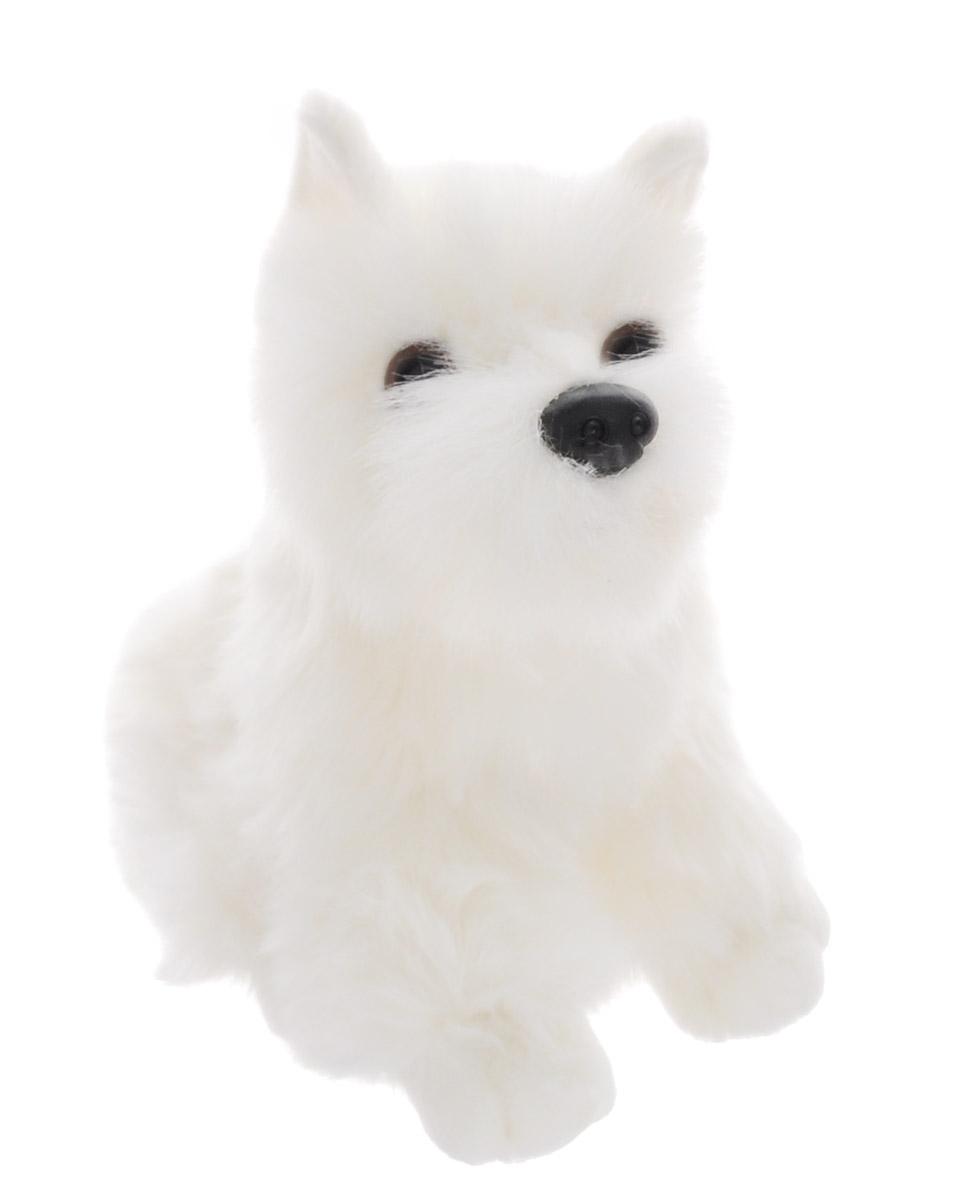 Soya Мягкая игрушка Щенок породы белый терьер 19,5 см2127S-11NМягкая игрушка Soya Щенок породы белый терьер - прекрасный подарок любому ребенку. Любая современная игрушка - это больше, чем просто способ увлечь малыша. Игрушка выполнена из приятного на ощупь материала в виде забавной собачки породы белый терьер. Эта игрушка может стать отличным другом для ребенка и для взрослого - ее мягкость и общий потешный вид понравятся всем. Мягкие игрушки снимают стресс, повышают настроение, стимулируют тактильную чувствительность.