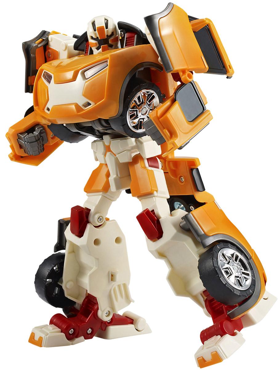 Tobot Трансформер Эволюция Х301008Трансформер Tobot Эволюция X из мультсериала Тоботы является улучшенной версией трансформера X. Этот трансформер очень сильный. Популярен из-за своего стойкого характера. Игрушка в точности повторяет героя, поэтому поможет преданным поклонникам разыграть увлекательные приключения не только в образе робота, но и быстрой машинки оранжевого цвета. Трансформер легко превращается в реалистичную машинку. Машинка может ездить по поверхности благодаря широким колесам с рельефными протекторами. Игрушка имеет оптимальные размеры, поэтому ребенку будет удобно держать ее в руке и катать по полу. В комплекте с трансформером имеются наклейки и ключ. Уровень сложности: 2.