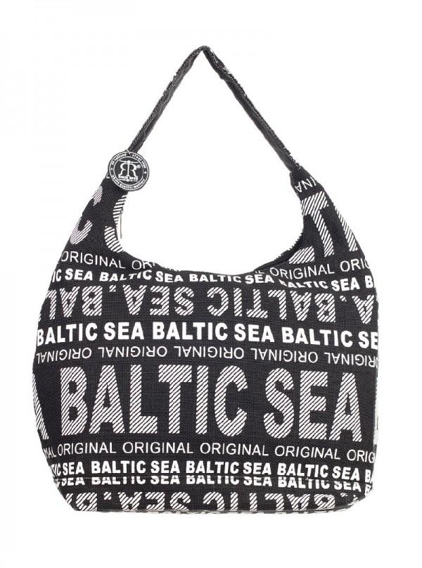 Сумка женская Robin Ruth Baltic Sea, цвет: черный, белый. BG2648-BBG2648-BЖенская сумка Robin Ruth Baltic Sea выполнена из канваса и оформлена контрастным принтом с надписями. Изделие содержит одно основное отделение, закрывающееся на застежку-молнию. Внутри расположены вшитый карман на молнии и накладной кармашек для телефона. Сумка оснащена практичной лямкой, которая дополнена брелоком на цепочке. Стильная сумка позволит вам подчеркнуть свою индивидуальность, а также сделает ваш образ завершенным.