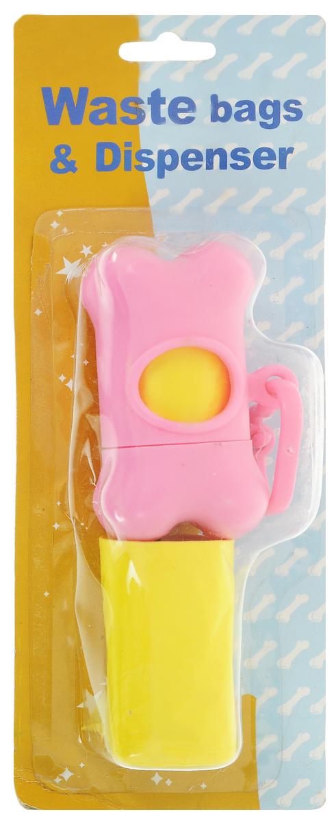 Гигиенические пакеты Каскад, с футляром, сменные, цвет: розовый, желтый9312212_розовый, желтыйГигиенические пакеты Каскад в футляре отлично подойдут для использования во время прогулок с собакой. Футляр, изготовленный из пластика в форме косточки, крепится к ручке поводка. Пакеты легко отрываются и позволяют убрать за собакой в любом месте. В комплекте предусмотрены сменные пакеты. Размер футляра: 5 х 8,5 х 4 см.