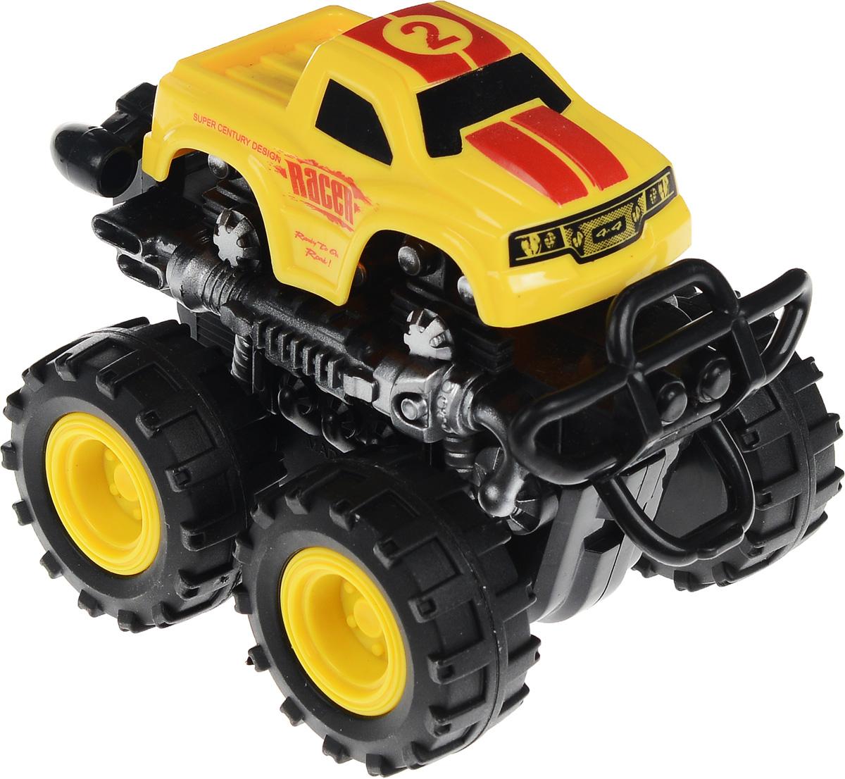 Big Motors Машинка инерционная 4 WD цвет желтый №2806B_желтый №2Инерционная машинка Big Motors 4WD станет любимой игрушкой вашего малыша. Игрушка представляет собой внедорожник с большими ребристыми колесами. Машинка оснащена инерционным механизмом. Достаточно немного подтолкнуть машинку вперед или назад, а затем отпустить, и она сама поедет в ту же сторону. Ваш ребенок будет часами играть с этой машинкой, придумывая различные истории. Порадуйте его таким замечательным подарком!