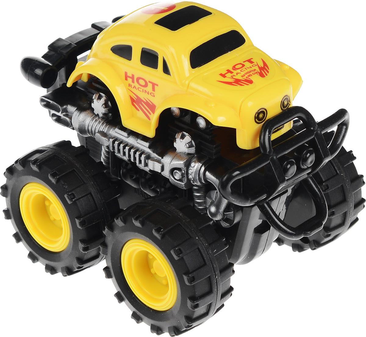 Big Motors Машинка инерционная 4 WD цвет желтый №1806B_желтый, черный №1Инерционная машинка Big Motors 4WD станет любимой игрушкой вашего малыша. Игрушка представляет собой мощный внедорожник с большими колесами. Машинка оснащена инерционным механизмом. Достаточно немного подтолкнуть машинку вперед или назад, а затем отпустить, и она сама поедет в ту же сторону. Ваш ребенок будет увлеченно играть с этим внедорожником, придумывая различные истории. Порадуйте его таким замечательным подарком!