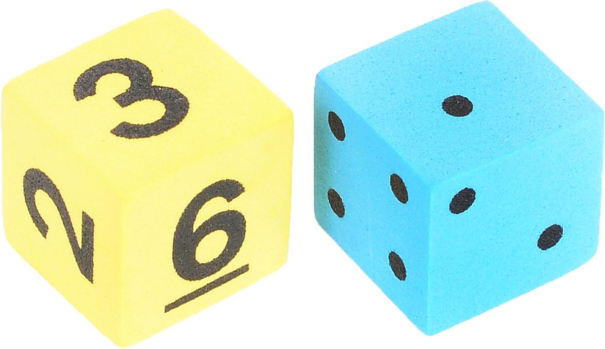 Koplow Games Набор игральных костей Шестигранный D6 цвет желтый голубой 2 шт