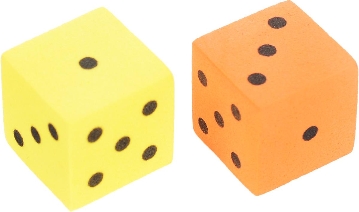 Koplow Games Набор игральных костей Шестигранный D6 цвет желтый оранжевый 2 шт