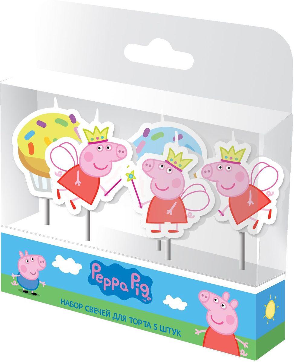 Peppa Pig Набор свечей Пеппа-Фея 5 шт