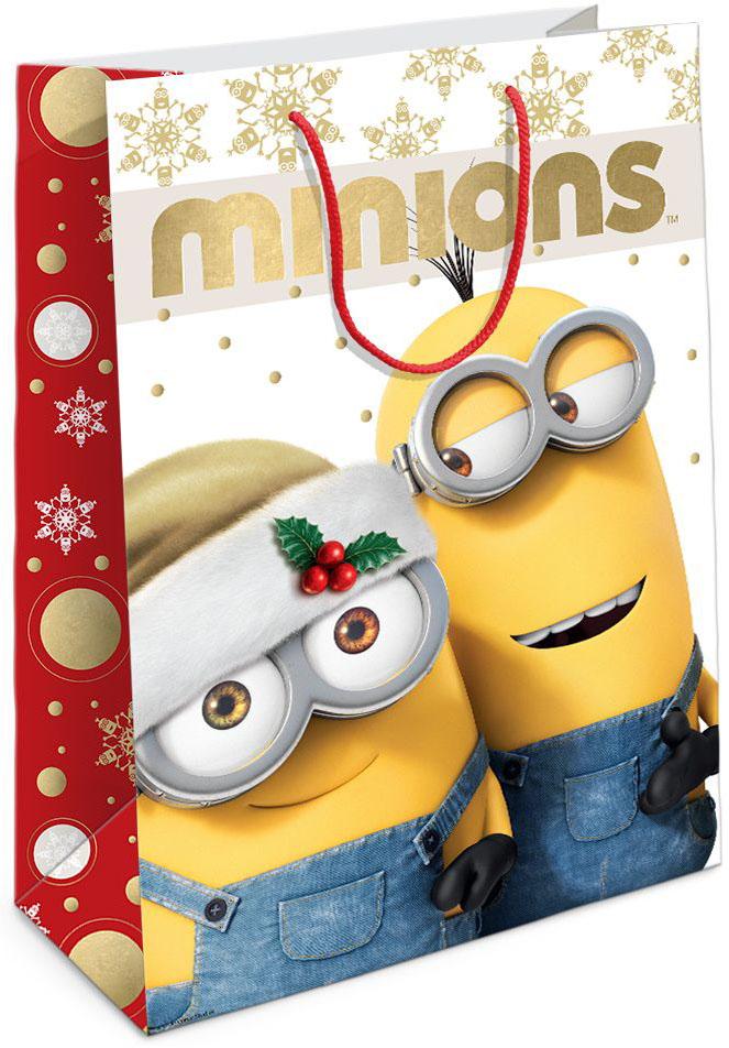Universal Миньоны Пакет подарочный Рождество Миньонов 35 см х 25 см х 9 см30992Подарочный бумажный пакет Рождество Миньонов с веселым, рождественским принтом ярко украсит подарок и еще больше поднимет праздничное настроение. Размер: 35х25х9 см. В ассортименте вы также сможете найти такой же пакет размером 23х18х10 см.