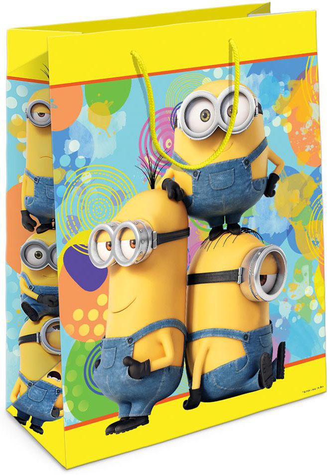 Universal Миньоны Пакет подарочный цвет желтый31380Подарочный бумажный пакет Миньоны с веселым, привлекательным принтом ярко украсит подарок и еще больше поднимет праздничное настроение.