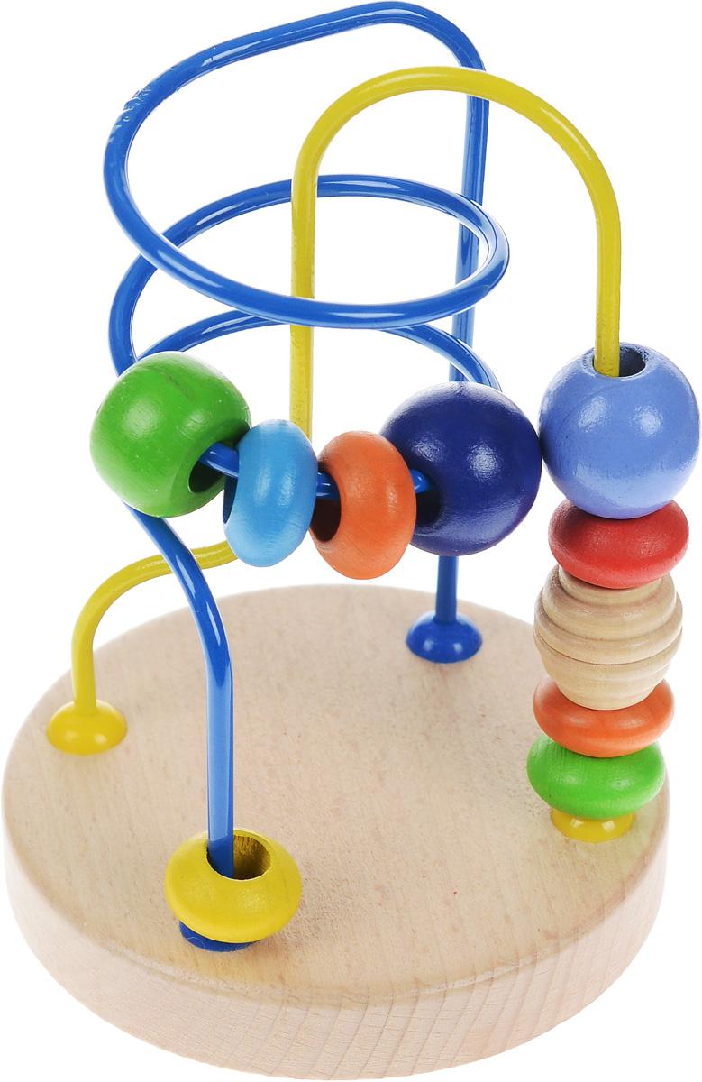 Мир деревянных игрушек Лабиринт №5Д193Развивающая игрушка Лабиринт с бусинками №5 Мир деревянных игрушек легко привлечет внимание вашего ребенка необычной формой и яркими красками. Лабиринт представляет собой две цветные изогнутые проволоки на деревянном основании с нанизанными на них деревянными шариками. Малышу нужно провести каждый шарик с одного конца проволоки к другому. Игра поможет выучить формы и цвета, развить пространственное мышление, логику, воображение, координацию, внимание. Уважаемые клиенты! Обращаем ваше внимание на возможные варьирования в дизайне товара. Поставка возможна в зависимости от наличия на складе.