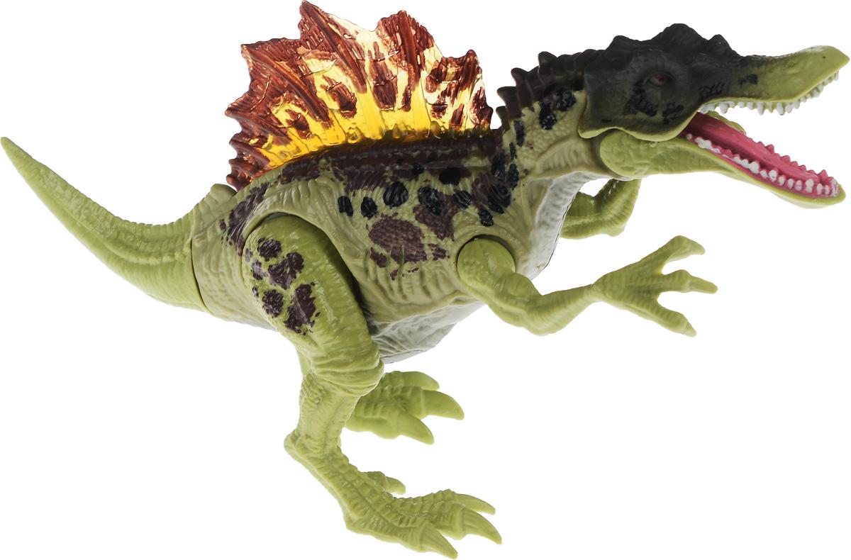 Chap Mei Фигурка Спинозавр520008-1Фигурка Спинозавр, выполненная из яркого пластика в виде симпатичного динозаврика, непременно придется по душе вашему малышу. Забавная фигурка имеет подвижные лапы, открывает и закрывает рот. Если двигать частями тела животного, то будет слышен крик динозавра. В это же время у фигурки будет светиться спинной прозрачный гребень. Фигурка Спинозавр способствует развитию у ребенка цветового и звукового восприятия, мелкой моторики, хватательного рефлекса, осязания и координации движений. Игрушка разовьет интерес ребенка к изучению живого мира нашей планеты. Отлично подходит для сюжетно-ролевых игр, которые способствуют развитию памяти и воображения у малыша. Для работы требуются 3 батарейки LR44 (комплектуется демонстрационными).