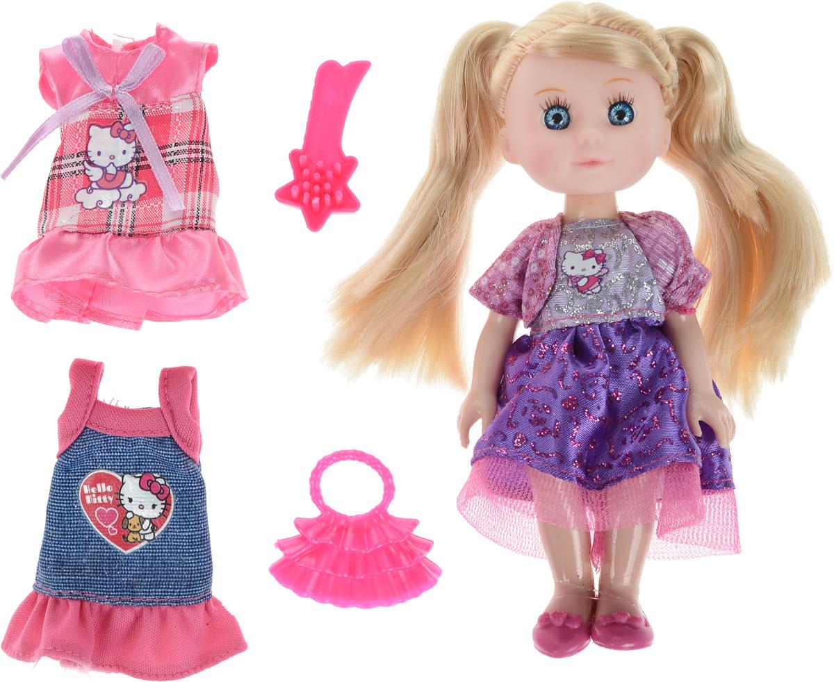 Карапуз Мини-кукла озвученная Моя подружка Машенька цвет наряда розовый фиолетовыйMARY002X-HK_розовый, фиолетовыйОзвученная мини-кукла Карапуз Моя подружка Машенька порадует любую девочку и позволит ей окунуться в сказочный мир волшебства. Машенька одета в очаровательный блестящий наряд, на ногах куклы - розовые туфельки. Вашей дочурке непременно понравится заплетать длинные светлые волосы куклы, придумывая разнообразные прически. Руки, ноги и голова куклы подвижны, благодаря чему ей можно придавать разнообразные позы. Кроме того, куколка оснащена звуковыми эффектами. Она знает 4 стихотворения, поет песенку и произносит 50 фраз. В наборе также имеется расческа для куклы, сумочка, два платья. Игры с куклой способствуют эмоциональному развитию, помогают формировать воображение и художественный вкус, а также разовьют в вашей малышке чувство ответственности и заботы. Великолепное качество исполнения делают эту куколку чудесным подарком к любому празднику. Рекомендуется докупить 3 батарейки типа LR41/L736 (товар комплектуется демонстрационными).