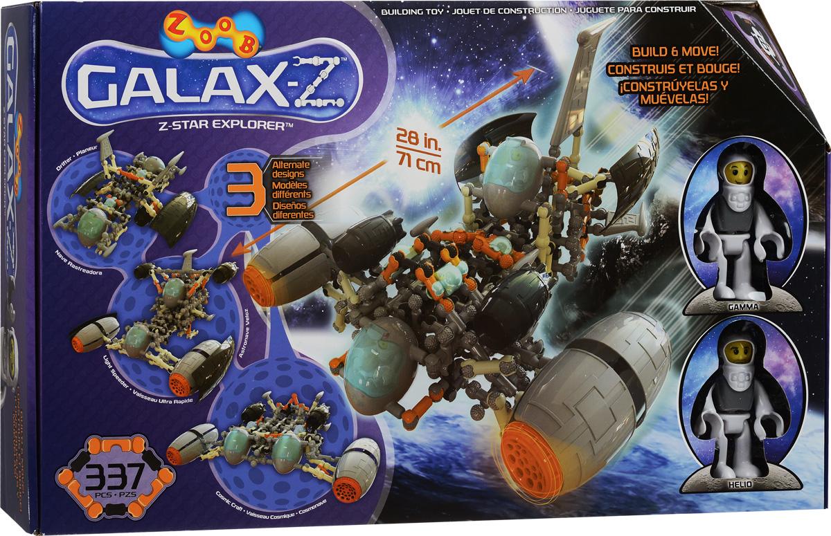 Zoob Конструктор Z-Star Explorer16010, 0Z16010TLZoob - подвижный многовариантный конструктор, завоевавший внимание детей и их родителей во всем мире. Кто из мальчишек, не мечтает стать космонавтом? Летать в межгалактические экспедиции, исследовать новые звездные системы? Подвижный конструктор Z-Star Explorer приблизит вашего ребенка к мечте. Благодаря инструкциям, входящим в комплект, вы можете построить: Бродягу, Звездного Исследователя Z и многие другие корабли, а ещё ваш ребенок сможет сконструировать свой собственный космический корабль! В набор входят 337 деталей ярких цветов. Юный инженер сможет собирать уже существующие в инструкции пошаговые схемы моделей или разрабатывать свои собственные. И ещё один классный бонус этого набора - две фигурки астронавтов. У наборов ZOOB практически не существует уникальных деталей. Всех их можно использовать в любой из моделей конструктора. Элементы конструктора Zoob соединяются между собой более чем 20 различными способами. Представьте ту безграничность...