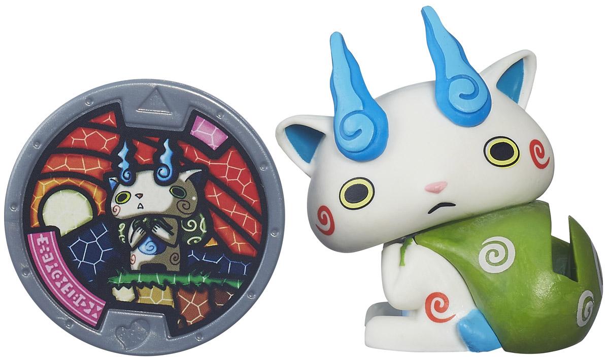 Yo-kai Watch Фигурка Komasan с медальюB5937_B5940В мире Yo-kai у персонажей иногда случаются дни, когда все идет не так. Они теряют ключи. У них спадают штаны. Несомненно, во всем этом виноваты Yo-kai. Они находятся повсюду, каждый день отвлекая и доставляя неудобства окружающим. Их не может видеть никто, кроме тех персонажей, которые подружились с ними. Komasan - это сторожевой пес пекинес. Храм, который он охранял в деревне, был разрушен. После этого он перебрался в большой город и всеми силами старался приспособиться к его непривычно быстрому ритму. Заведите дома забавных персонажей из мультсериала Yo-kai Watch. К каждой фигурке прилагается медаль. Играть с любой Yo-kai-медалью можно тремя способами. 1. Можно вызвать персонажа Yo-kai, вставив медаль в игрушечные часы Yo-kai Watch (приобретаются отдельно), и тогда вы услышите имя персонажа и другие звуки. Большинство медалей также могут воспроизводить песню своего клана. 2. Можно погрузиться в изучение сказочного мира Yo-kai, отсканировав медаль с...