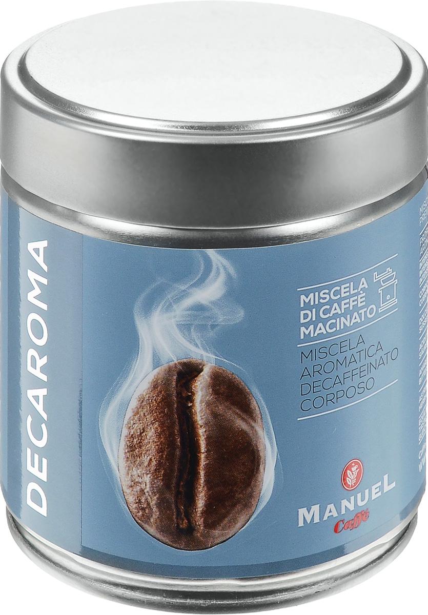 Manuel Decaroma кофе молотый, 125 г (ж/б)8006536201210Великолепный кофе с низким содержанием кофеина Manuel Decaroma.