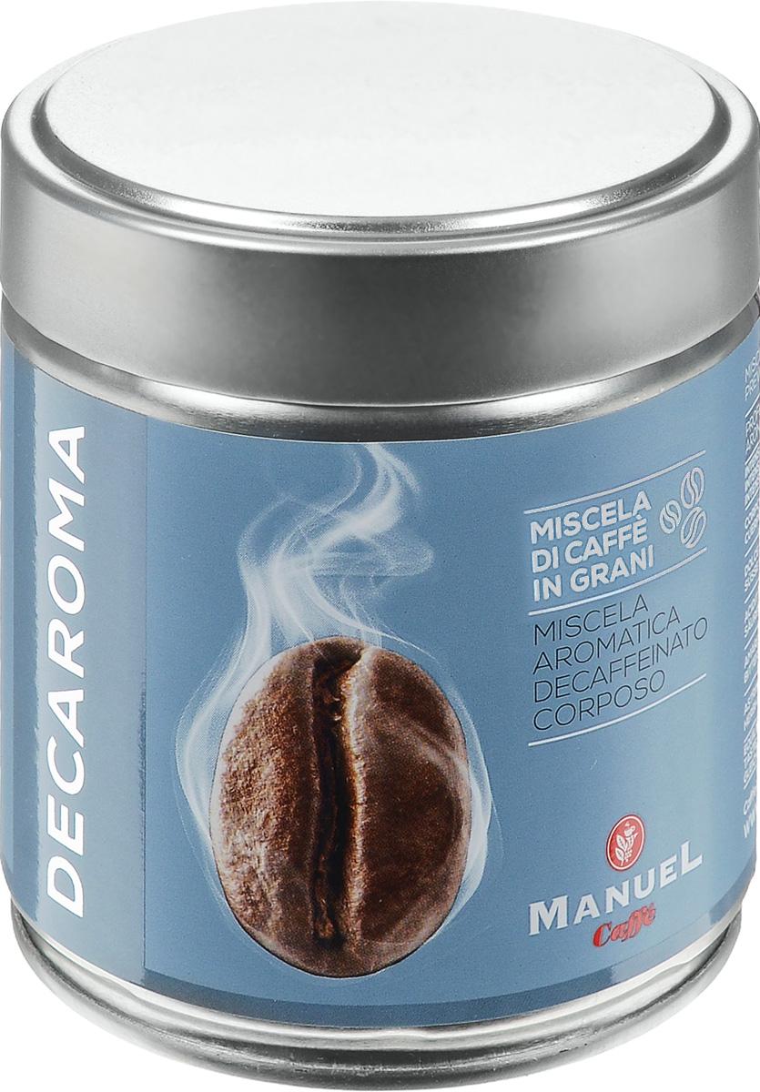 Manuel Decaroma кофе в зернах, 125 г (ж/б)8006536201227Великолепный кофе Manuel Decaroma с низким содержанием кофеина.