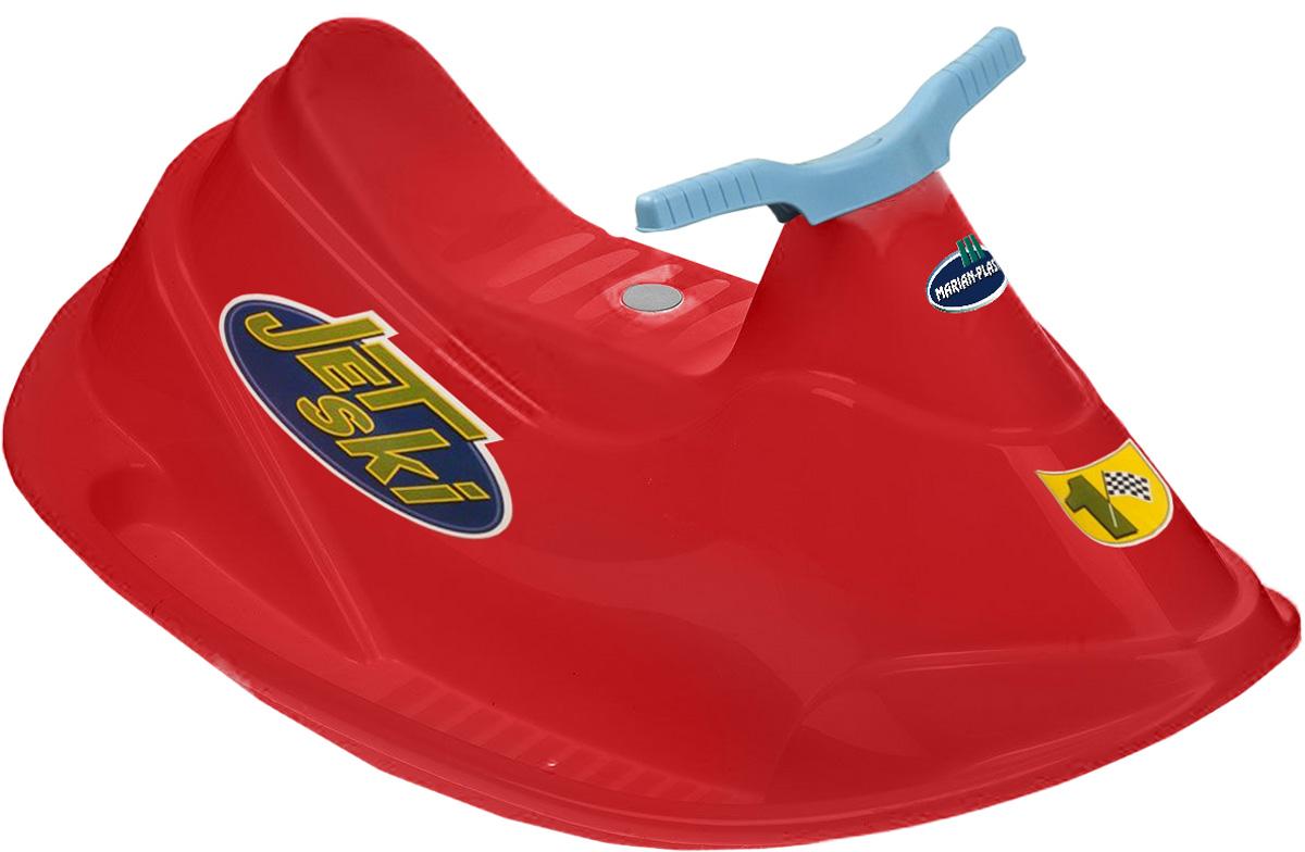 PalPlay Качели Водный мотоцикл цвет красный331_красныйЯркие качели Водный мотоцикл обеспечат вашему ребенку массу положительных эмоций во время катания. Веселая качалка выполнена из прочного пластика в виде водного скутера с удобным сидением, рулем и подставками для ног для обеспечения дополнительной безопасности малышей. К качелям прилагаются яркие наклейки. Качели идеально подходят для игры на открытом воздухе во время летнего отдыха. Игрушка рассчитана на вес ребенка не более 30 кг. Рекомендуемый возраст: 2+.
