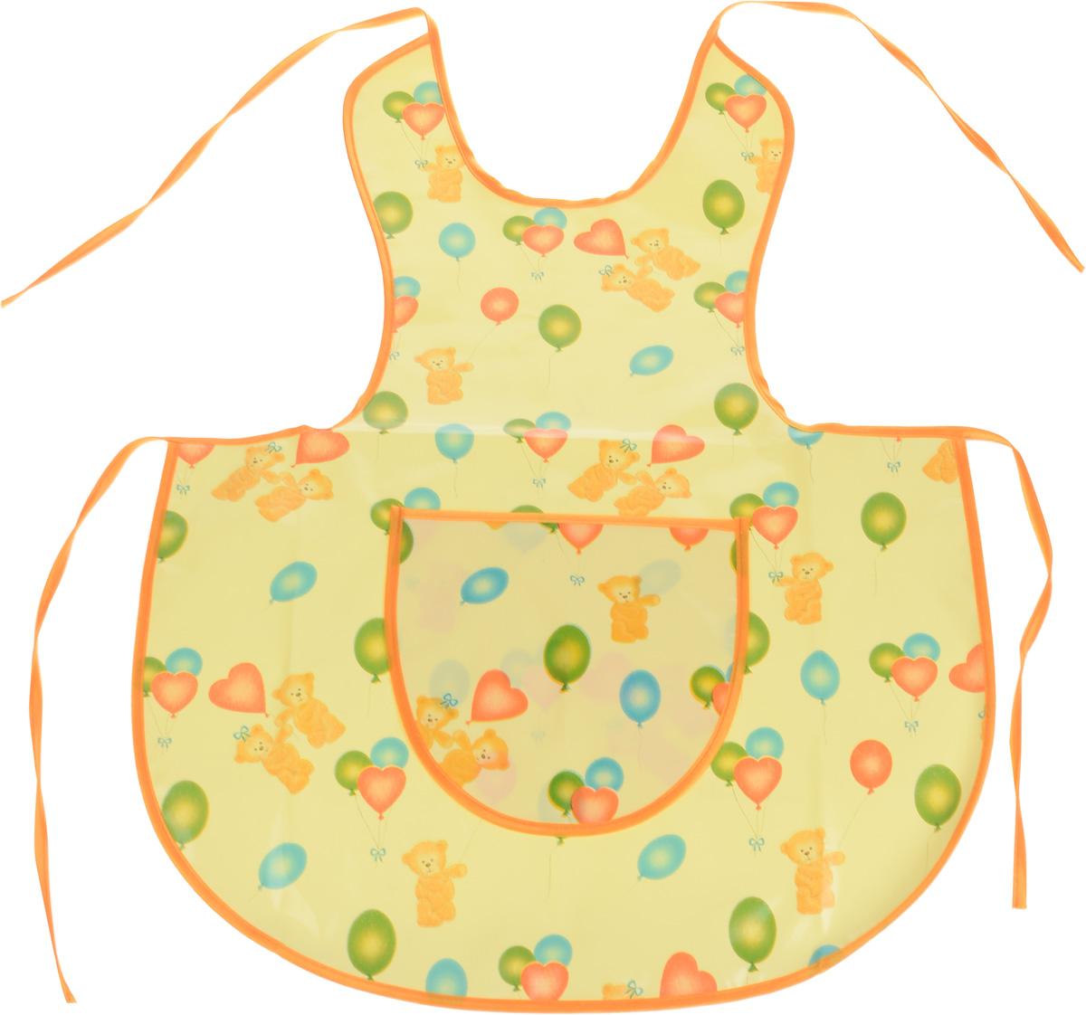 Колорит Фартук защитный для творчества и дома цвет желтый, оранжевый
