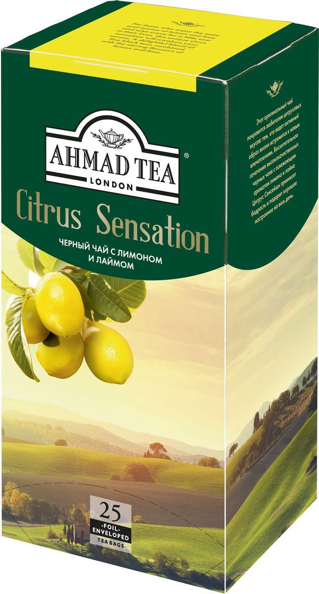 Ahmad Tea Citrus Sensation черный чай в пакетиках, 20 шт