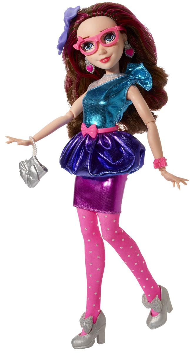 Disney Descendants Кукла Светлые герои JaneB6858_ДжейнКукла Descendants Jane порадует вашу малышку и доставит ей много удовольствия от часов игры. Игрушка изготовлена из безопасного материала. Джейн - дочь феи Крестной. Джейн учили с малых лет держаться подальше от зла и злой магии, так что она немного опасается новых учеников, и уж тем более старается держаться подальше от их запрещенной магии. Короткое блестящее платье с розовым пластиковым поясом очень идет этой красавице. На ногах - розовые колготки и туфли на высоких каблуках. Длинные мягкие волосы куклы украшены сиреневым бантиком. Руки и ноги куклы сгибаются, голова поворачивается. Дополняют стильный образ розовые очки, браслетик и серьги с сердечками. В комплекте с куклой имеется модная сумочка. Благодаря играм с куклой, ваша малышка сможет развить фантазию и любознательность, овладеть навыками общения и научиться ответственности. Порадуйте свою принцессу таким прекрасным подарком!