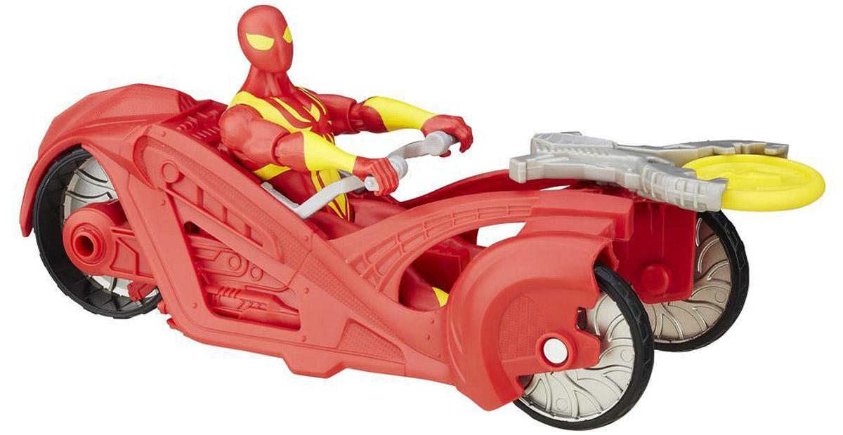 Spider-Man Фигурка Человек-паук и бронированный болидB6871_B5760Обладая способностью выстреливать паутиной, Человек-паук защищает улицы Нью-Йорка в своем стильном и быстром гоночном автомобиле! Разыгрывайте битвы против злодеев вместе с этим набором. В машине имеется встроенная пусковая установка и снаряд, чтобы ребенок стрелял из нее, представляя, как побеждает злейших врагов Человека-паука. Человек-паук и бронированный болид позволит вашему ребенку представить, как его любимый герой и злодеи отправляются в грандиозное высокоскоростное сражение! В набор входит фигурка Человека-Паука, гоночный автомобиль и снаряд. Придумайте грандиозное быстрое сражение!