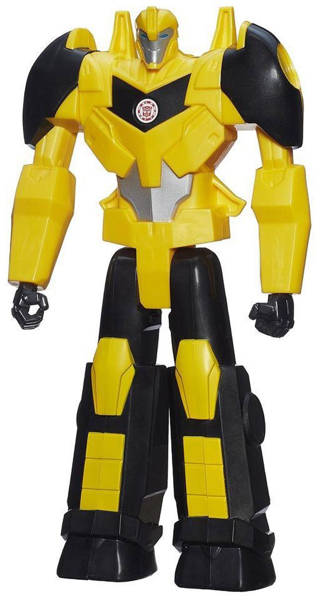 Transformers Трансформер BumblebeeB0760_B1296Трансформер Bumblebee обязательно понравится любому маленькому поклоннику знаменитого мультсериала! Фигурка выполнена из прочного пластика в виде автобота Бамблби. Руки и ноги робота подвижны. Ваш ребенок с удовольствием будет играть с фигуркой, придумывая разные истории. Порадуйте его таким замечательным подарком! Робот не трансформируется в машинку, его главная особенность заключается в том, что на груди робота расположен QR-код. Отсканировав код, вы получите множество дополнительных функций и вариантов игры в бесплатном приложении Hasbro Robots in Disguise для смартфонов и планшетов.