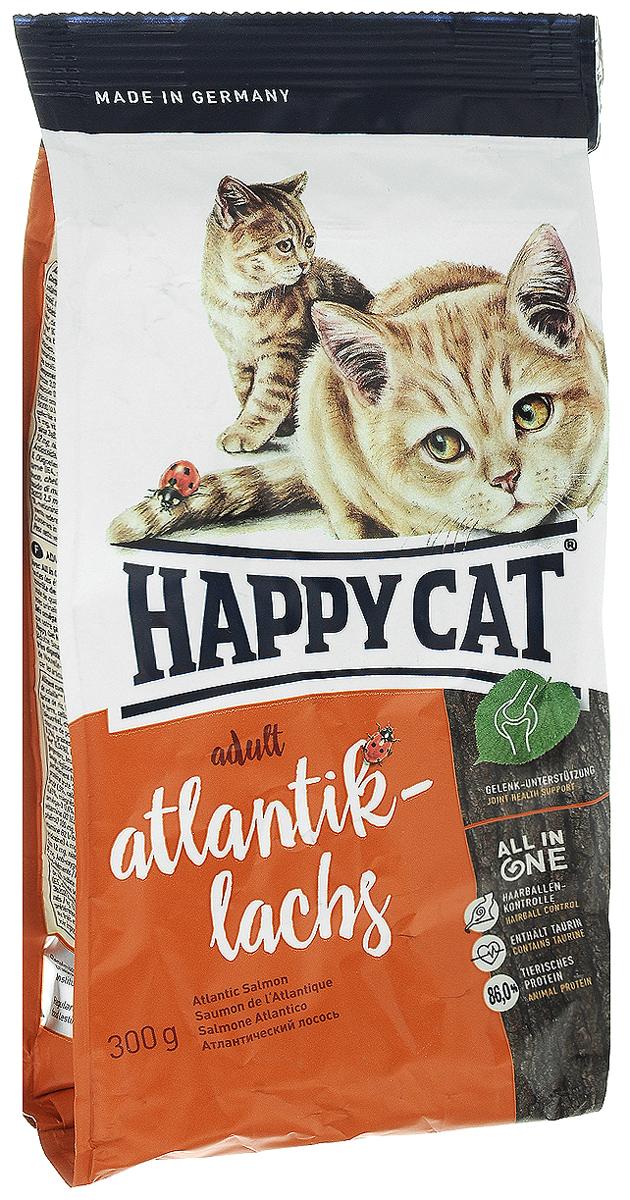 Корм сухой Happy Cat Adult Atlantik-Lachs для кошек с чувствительным пищеварением, с атлантическим лососем, 300 г70010Сухой корм Happy Cat Adult Atlantik-Lachs - инновационная программа комплексного питания кошек на всех стадиях развития. Особенности: - предотвращение образования шерстяных комочков, - таурин и большое количество белка животного происхождения, - контроль за уровнем рН для здоровья мочевыводящих путей, - укрепление зубов, - омега-3 и омега-6 жирные кислоты для здоровой кожи и шерсти, - гарантия превосходного вкуса и уникальная форма Happy Cat Natural Life Concept. Корм Happy Cat Adult Atlantik-Lachs содержит легкоусваиваемое мясо лосося и вкусное мясо птицы. Оригинальное мясо новозеландского моллюска и семя льна поддерживают здоровье опорно-двигательной и иммунной систем. Товар сертифицирован.