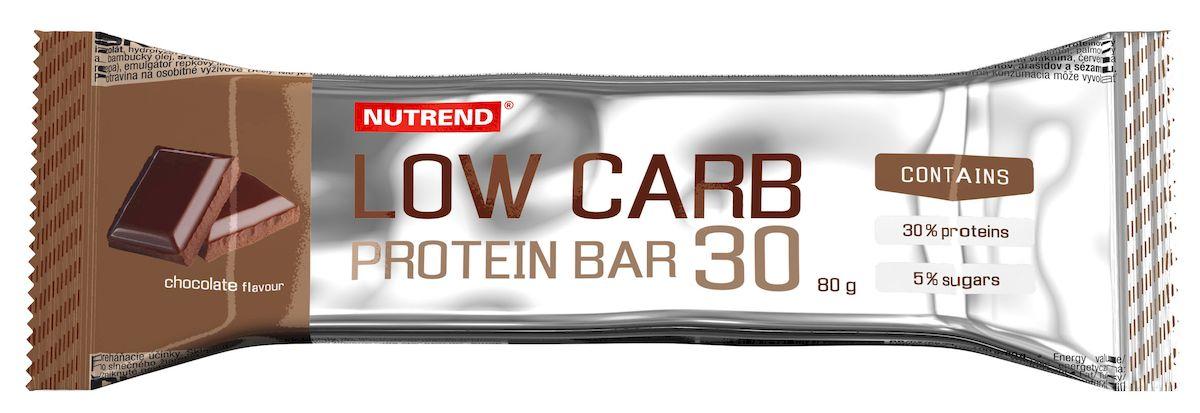 Протеиновый батончик Nutrend Low Carb Protein bar 30, 80 г, chocolate