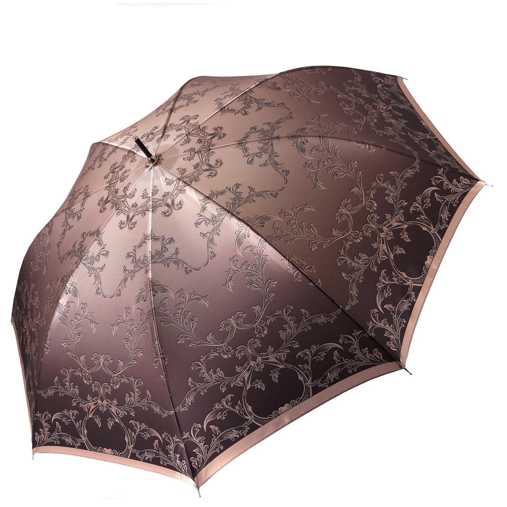 Зонт женский Fabretti, цвет: мультиколор. 16171617Женский зонт-трость от итальянского бренда Fabretti. Конструкция модели выполнена из стали и фибергласса, поэтому устойчива к сильному ветру. Насыщенный бордовый цвет зонта, его изящная градация сделает вас неотразимыми в любую непогоду, а невероятно женственный и роскошный цветочный принт дополнит любой современный образ! Материал купола – сатин. Он невероятно изящен, приятен на ощупь, обладает высокой прочностью, а также устойчив к выцветанию. Эргономичная ручка сделана из высококачественного пластика-полиуретана с противоскользящей обработкой!