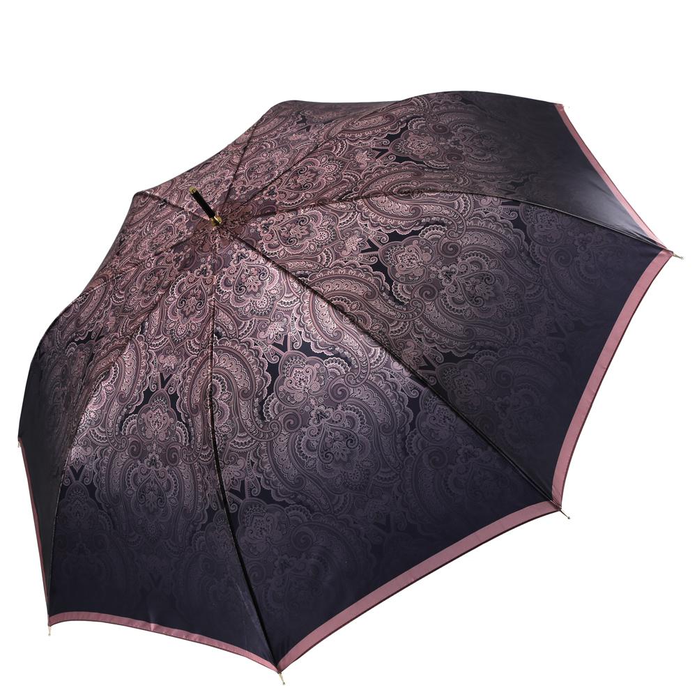 Зонт женский Fabretti, цвет: мультиколор. 16241624Изысканный женский зонт-трость от итальянского бренда Fabretti. Конструкция модели выполнена из стали и фибергласса, поэтому устойчива к сильному ветру. Женственный розовый цвет, который плавно переходит в стильный кофейный оттенок сделает вас неотразимыми в любую непогоду, а роскошный принт пейсли дополнит любой современный образ! Материал купола – сатин. Он невероятно изящен, приятен на ощупь, обладает высокой прочностью, а также устойчив к выцветанию. Эргономичная ручка сделана из высококачественного пластика-полиуретана с противоскользящей обработкой!
