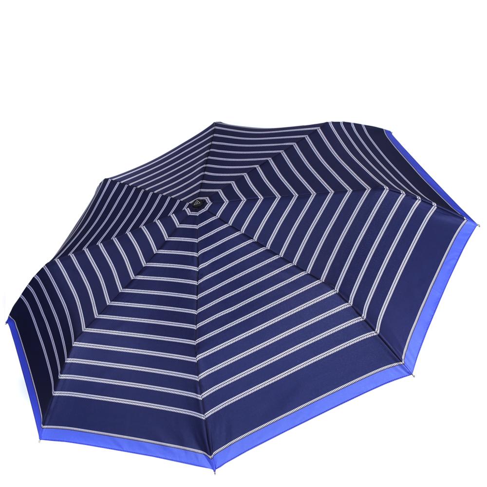 Зонт женский Fabretti, цвет: синий. L-16108-2L-16108-2Женский зонт от итальянского бренда Fabretti. Насыщенный и модный темно-синий цвет в сочетании с серебряными оттенками сделают вас неотразимыми в любую непогоду! Яркий дизайнерский принт в виде элегантных ремешков добавит изюминку и нотки изыска к любому образу. Значительным преимуществом данной модели является система антиветер, которая позволяет выдержать сильные порывы ветра. Материал купола - эпонж, обладает высокой прочностью и износостойкостью. Вода на куполе из такого материала скатывается каплями вниз, а не впитывается, на нем практически не видны следы изгибов. Эргономичная ручка сделана из высококачественного пластика-полиуретана с противоскользящей обработкой.