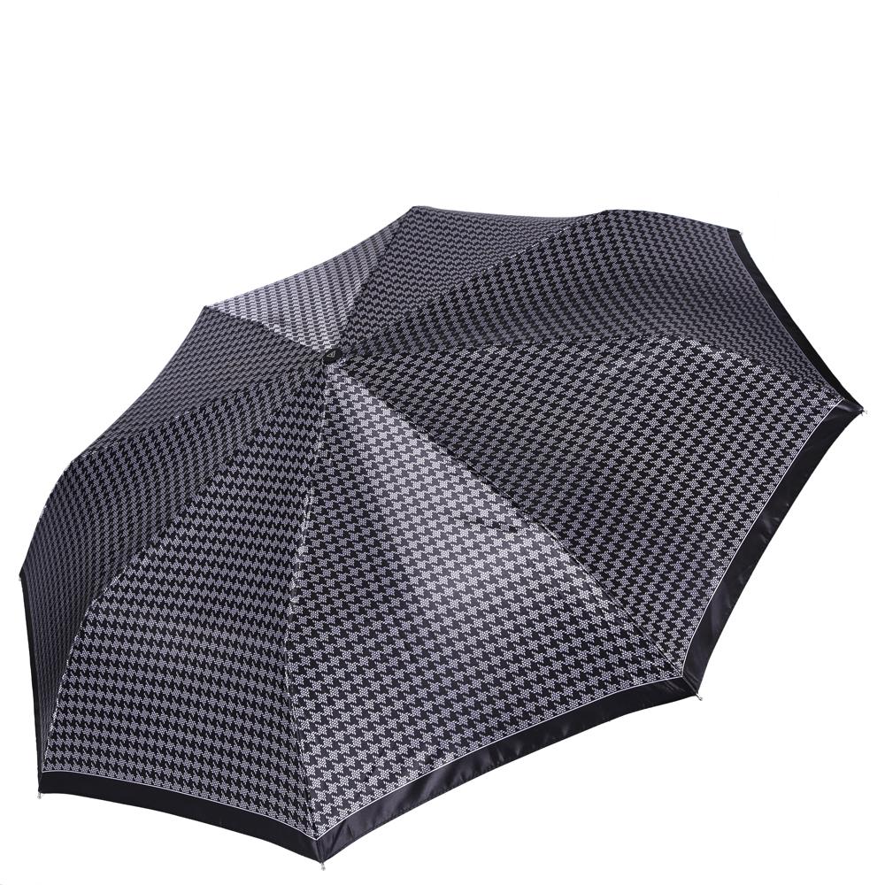 Зонт женский Fabretti, цвет: черный. L-16112-2L-16112-2Женский зонт от итальянского бренда Fabretti.Классический и насыщенный черный цвет в сочетании с белым принтом в стиле гусиная лапка сделают вас неотразимыми в любую непогоду!Значительным преимуществом данной модели является система антиветер, которая позволяет выдержать сильные порывы ветра. Материал купола – сатин. Он невероятно изящен, приятен на ощупь, обладает высокой прочностью, а также устойчив к выцветанию. Эргономичная ручка сделана из высококачественного пластика-полиуретана с противоскользящей обработкой.