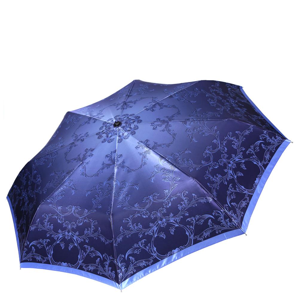 Зонт женский Fabretti, цвет: синий. S-16107-5S-16107-5Женский зонт от итальянского бренда Fabretti. Насыщенный синий цвет в сочетании с нежными голубыми оттенками сделают вас неотразимыми в любую непогоду! Яркий и утонченный узор в виде цветов превращают модель в роскошный аксессуар, который придется по вкусу ценителям элегантного стиля. Значительным преимуществом данной модели является система антиветер, которая позволяет выдержать сильные порывы ветра. Материал купола – сатин. Он невероятно изящен, приятен на ощупь, обладает высокой прочностью, а также устойчив к выцветанию. Эргономичная ручка сделана из высококачественного пластика-полиуретана с противоскользящей обработкой.