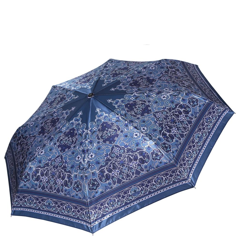 Зонт женский Fabretti, цвет: синий. S-16108-2S-16108-2Женский зонт от итальянского бренда Fabretti. Насыщенный синий цвет в сочетании с серыми и бирюзовыми оттенками сделают вас неотразимыми в любую непогоду! Яркий и утонченный цветочный орнамент, который дополнен графическими линиями, превращает модель в роскошный аксессуар, который придется по вкусу ценителям элегантного стиля. Значительным преимуществом данной модели является система антиветер, которая позволяет выдержать сильные порывы ветра. Материал купола – сатин. Он невероятно изящен, приятен на ощупь, обладает высокой прочностью, а также устойчив к выцветанию. Эргономичная ручка сделана из высококачественного пластика-полиуретана с противоскользящей обработкой.
