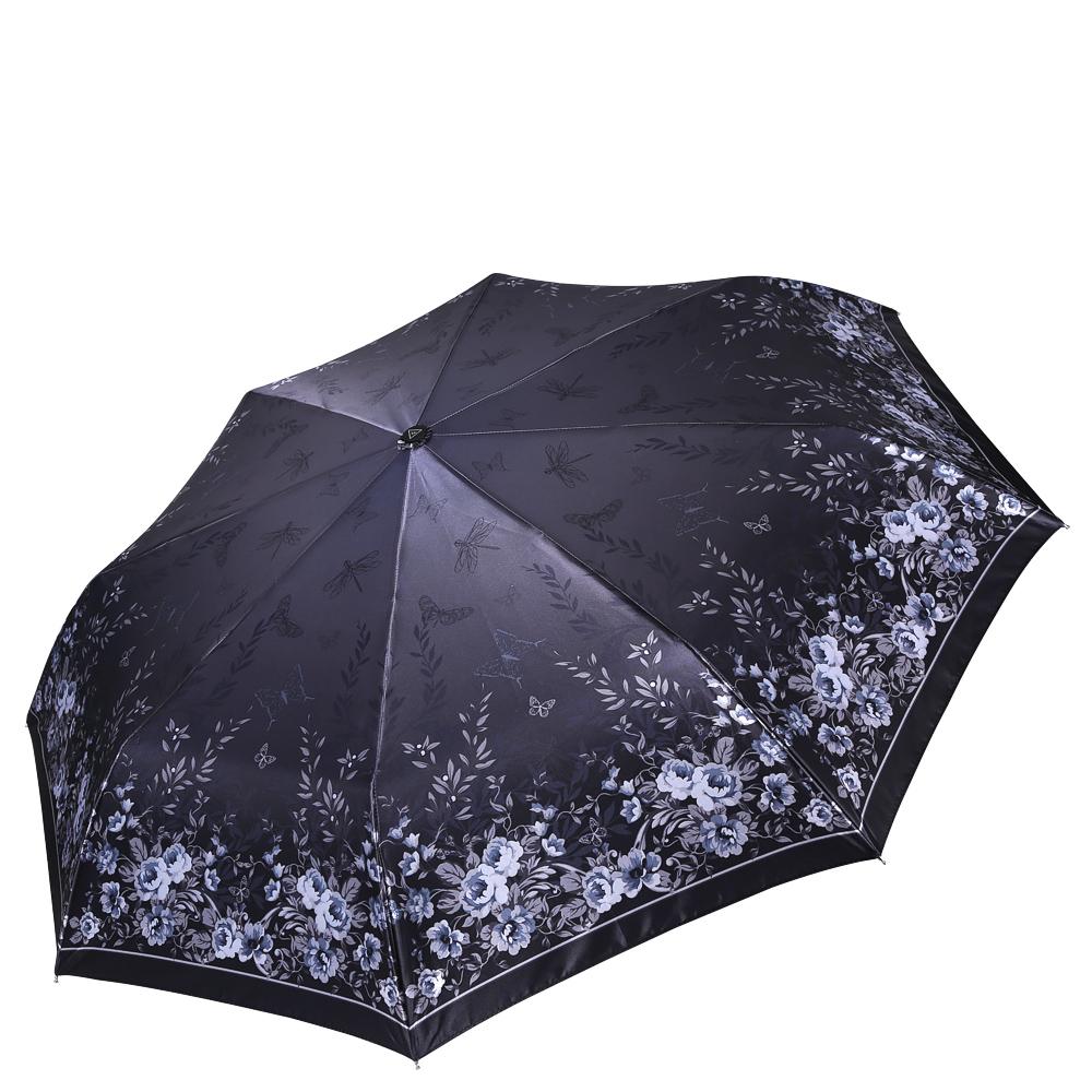 Зонт женский Fabretti, цвет: серый. S-16108-3S-16108-3Женский зонт от итальянского бренда Fabretti. Насыщенный темно-серый цвет в сочетании с пастельными серыми оттенками сделают вас неотразимыми в любую непогоду! Яркий и утонченный цветочный принт превращает модель в роскошный аксессуар, который придется по вкусу ценителям элегантного стиля. Значительным преимуществом данной модели является система антиветер, которая позволяет выдержать сильные порывы ветра. Материал купола – сатин. Он невероятно изящен, приятен на ощупь, обладает высокой прочностью, а также устойчив к выцветанию. Эргономичная ручка сделана из высококачественного пластика-полиуретана с противоскользящей обработкой.