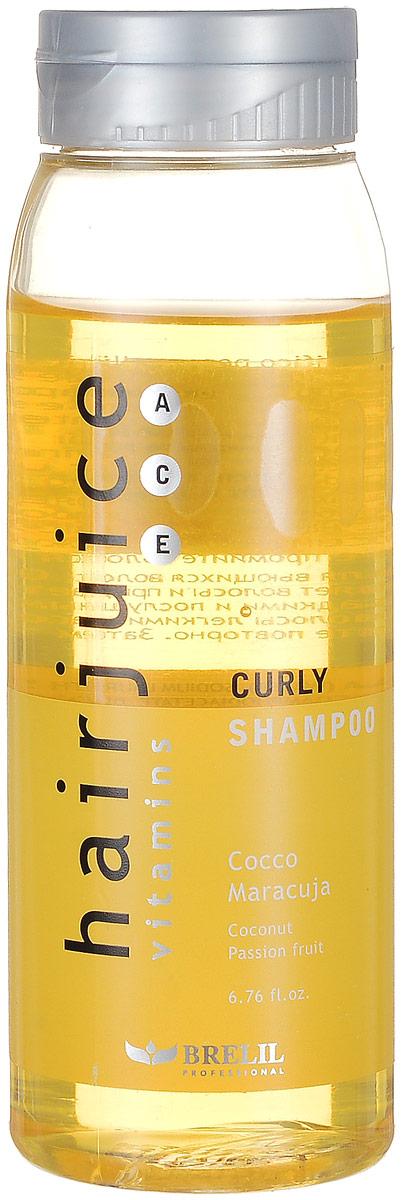 Brelil Шампунь для вьющихся волос HairJuice Curly Shampoo, 200 млB044043Шампунь для вьющихся волос Brelil HairJuice Curly Shampoo мягко питает, увлажняет и очищает волосы благодаря входящему в его состав кокосовому экстракту. Средство эффективно устраняет пушистость волос, делая их гибкими и более послушными при расчесывании. В состав шампуня также входит мультивитаминный комплекс, который придает волосам мягкость, блеск и шелковистость.
