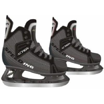 Коньки хоккейные Action, цвет: серый. PW-216DN. Размер 45