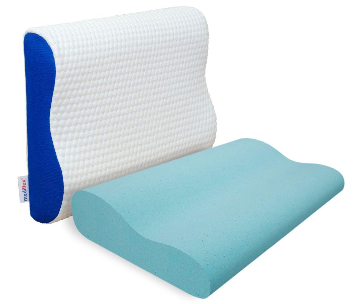 Подушка ортопедическая Mediflex Ergoform, 60 х 40 х 9 смPO.ERGOFСон на неправильной подушке является причиной ухудшения качества сна. Подушки разработаны специалистами лаборатории сна совместно с академиком В.И. Дикулем, гарантируют поддержку шейных позвонков во время сна.